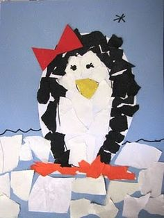 torn paper penguin....need to tweek it a bit for Pre-K