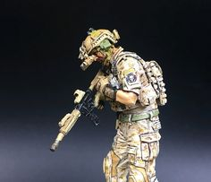 US Navy Seals 3-man Special Forces AOR1 Camouflage 1 35 soldier Model Foundry