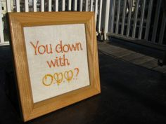 Down With O.P.P. Hand Embroidery
