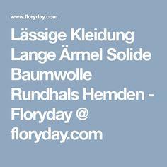Lässige Kleidung Lange Ärmel Solide Baumwolle Rundhals Hemden - Floryday @ floryday.com