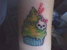 cupcake tattoo by pinkarol.deviantart.com on @deviantART