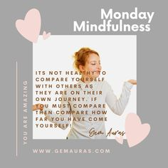 Monday Mindfulness - Do you Compare Yourself to Others? !  Remember, everyone is unique, it's not healthy to compare with ANYONE!   This week make it a Daily Practise to Appreciate how unique and amazing you TRULY are!  Gem Auras sends you healing light and love 😍   #gemauras #athomewithgemauras #athomereboot #stayhomegc #gemporia #mentalstrength #mentalawareness #mentalhealthawareness #behappyquotes #mindfulness #mindvalleytribe #mindset #mindsetiseverything #mindbodysoul #happy… Healing Light, Mental Strength, Comparing Yourself To Others, Self Motivation, Auras, Mind Body Soul, Mental Health Awareness, Law Of Attraction, Women Empowerment