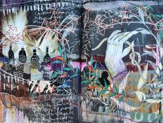 """tonic"" journal spread by artist Roxanne Coble"