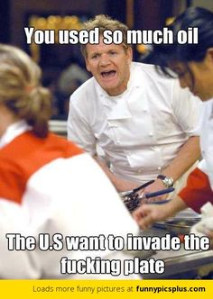 Gordon Ramsey humor - man I can't wait for Hell's Kitchen... he rolls out some of his own funny lines