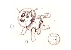 Horse in space