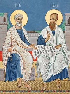 An icon of Holy Apostles Peter and Paul.