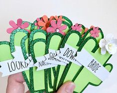 Cactus Bachelorette Party Pins, Name Tags - Anatol Kennea Ra Door Tags, Door Decs, Dorm Name Tags, Recruitment Name Tags, Palm Springs, Cactus Names, Dorm Door Decorations, Glitter Cards, Res Life