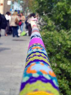 Yarnbombing from Urban Knitting Zaragoza