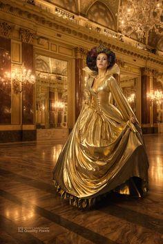 Ball Gown Dresses, Satin Dresses, Sparkly Dresses, Gold Silk Dress, Crinoline Dress, Satin Gown, Silk Satin, Golden Dress, Gold Fabric