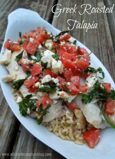 Greek Roasted Talapia so easy to make for a quick and healthy dinner