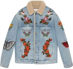 c7af3fe311d 10 beste afbeeldingen van Gucci denim - Embroidered clothes ...