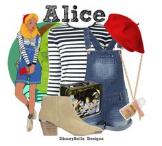 """""""Alice"""" by disneybelledesigns ❤ liked on Polyvore featuring Disney, T By Alexander Wang, ASOS, Dolce Vita and And Mary"""