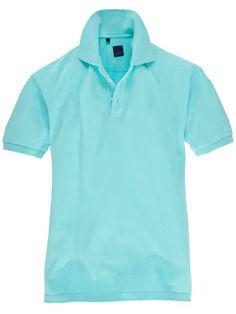 Aquafarbenes Poloshirt von TOM.