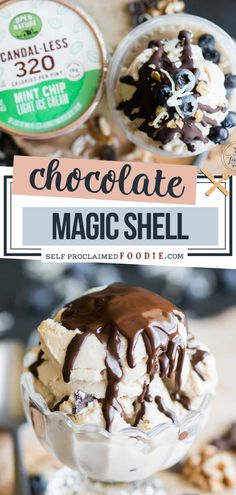 A hardening chocolate sauce recipe that is so incredibly easy to make with only two ingredients! How does a magic shell work? The chocolate sauce hardens in your ice cream and is cracked with a spoon to get to the ice cream! Try this fun recipe! Chocolate Crack, Coconut Hot Chocolate, Chocolate Ice Cream, Homemade Chocolate, Homemade Desserts, Frozen Desserts, Dessert Recipes, Chocolate Sauce Recipes, Mint Chip Ice Cream