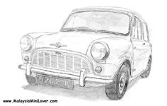 realistic looking old school mini. the perspective is also compelling