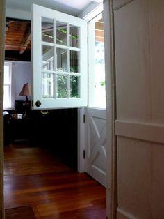 I love dutch doors.  PLEASE, may I?!
