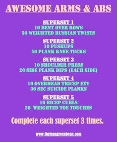 Arms and Abs Workout.