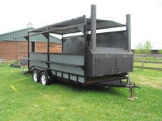 Custom BBQ pit Smoker Grill Concession Trailer  #UnbrandedGeneric