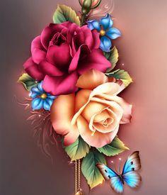 Moonbeam's Summer Roses 2D Merchant Resources moonbeam1212