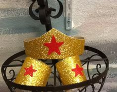 Wonder Woman Tiara and arm cuffs in stock