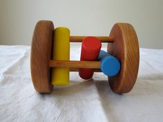 Wood Cherry Wood Rattle. $38.99, via Etsy.