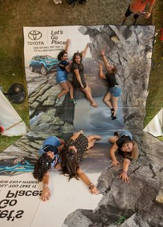 Lollapalooza: A photo activation from Lollapalooza returning sponsor Toyota turned music fans into rock climbers thanks to some low-fi special effects. The music festival took place in Chicago in July.