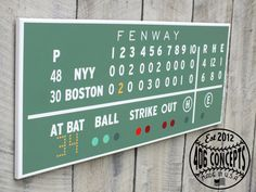 Green Monster scoreboard...painted to exactly replicate the instant when Big Papi hit the walk-off home run in game 4 of the 2004 ALCS.