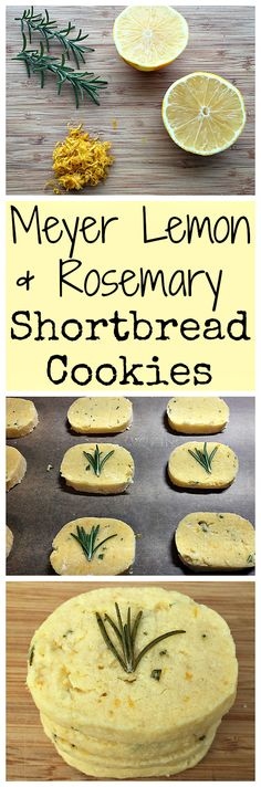 Here is a super yummy recipe for lemon and rosemary shortbread cookies!