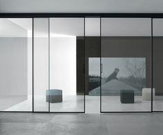 Rimadesio Velaria Glass Sliding Panels