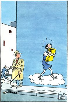"""""""My Favorite Book"""" appeared on a blank French card ©1992 Joost Swarte"""