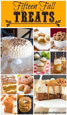 Fifteen Fall Treats to satisfy your comfort food needs!! - www.refashionablylate.com