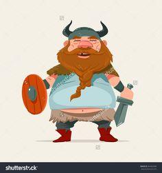 Cartoon Funny Character, Viking, Vector Illustration - 364462580 : Shutterstock