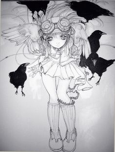 camilla d errico   Camilla d'Errico - Black Angel Crows   Flickr - Photo Sharing!
