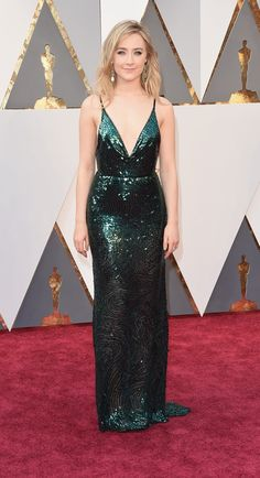 Saoirse Ronan in a Calvin Klein Collection dress and Chopard jewelry