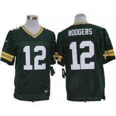 f2017fffe Nike Aaron Rodgers Jersey Elite Team Color Green Green Bay Packers  12  Green Bay Packers