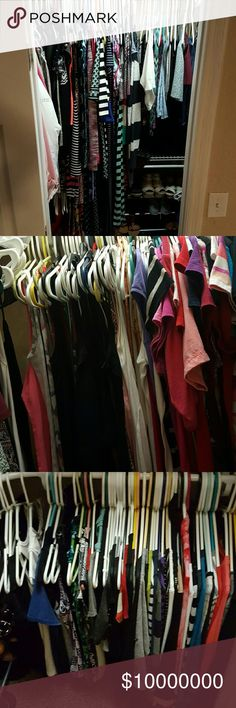 Come to my closet Sunrise, Fl bundle set Entire closet for sale. I'm moving and need to down size. I am not just giving them away but they will be heavily discounted and are all in excellent condition. I'm sorry I can't take individual pictures. I have sizes ranging from xsmall-large I have dress sizes from 2-9 pants from 26-32 shorts size 2-11 shirts xsmall-large shoes size 6-7.5 I also have winter coats ect. Boots. Men's shoes  If you live close to Welleby in Sunrise Fl that's close to the…
