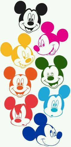 Mickey Mouse Faces in Technicolor (colored by me) all the jesus, but the real one the yellish one. make the ones i need their magic and their stuff mickey mouse i will kill them later. Retro Disney, Disney Love, Disney Magic, Disney Art, Disney Pixar, Disney Characters, Minnie Mouse, Mickey Mouse And Friends, Mickey Mouse Wallpaper