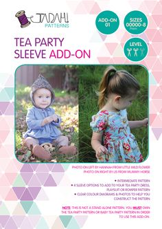 IMPORTANT: This is NOT a stand alone pattern. You must own the tea party pattern OR Baby Tea Party pattern in order to use this add-on. You can purchase the Bab