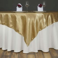 x Champagne Adoringly Adorned Satin Lily Overlay Champagne Wedding Decorations, Spring Wedding Decorations, Spring Wedding Colors, Tablecloth Sizes, Floral Tablecloth, Table Overlays, Chair Sashes, Banquet Tables, Wedding Table