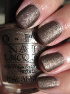 You Don't Know Jacques! Suede - OPI shimmery golden taupe color - also featured in their matte collection