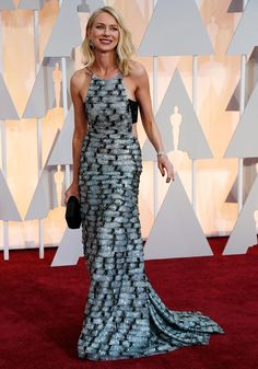 Photograph: Mario Anzuoni/Reuters Birdman actress Naomi Watts may have not been nominated in the Best Supporting Actress category but she brought her A-game to the red carpet in a striking beaded Armani Prive number JLo, Dakota Johnson, Rita Ora: Oscars' HOTTEST red carpet styles - Rediff.com