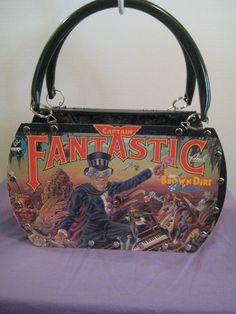 ELTON JOHN CAPTAIN FANTASTIC COWBOY VTG VINYL RECORD LP TOTE PURSE SHOULDER BAG  #Handmade #TotesShoppers