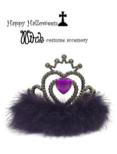 Diva Witch Black Feather Stone Crown Tiara// Adult by DazzleLand