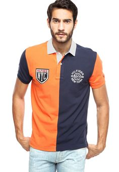 1073f518 Camisa Polo Tommy Hilfiger New York Multicolorida - Multicolorido | Kanui Polo  Shirts, Colour Block