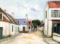 Maurice Utrillo Street In Compiègne oil painting reproductions for sale