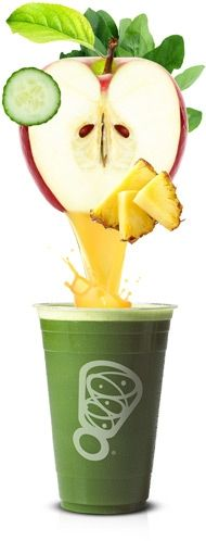 Wholesome energy from grapes, spinach, and pineapple boosts this blend with Vitamin B.