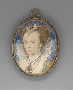 Metropolitan Museum of Art. Portrait of a Woman Nicholas Hilliard (British, 1547–1619) Date: ca. 1590 Medium: Vellum laid on card Dimensions: Oval, 1 x 7/8 in. (27 x 22 mm) Classification: Miniatures Credit Line: The Friedsam Collection, Bequest of Michael Friedsam, 1931 Accession Number: 32.100.311