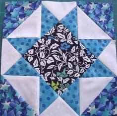 Twin star quilt block on point - pattern and tutorial from Ludlow Quilt and Sew