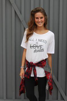 All I need is donuts boyfriend t-shirt
