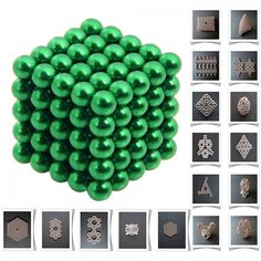 125pcs 5mm DIY Buckyballs Neocube Magic Beads Magnetic Toy Green.  Check this out at the Tmart link on MomTheShopper.